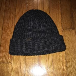 Brown Coach cashmere hat